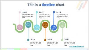 timeline infographic charts