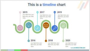 Free Timeline infographics charts for your presentations