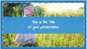 Kindergarten free presentation template